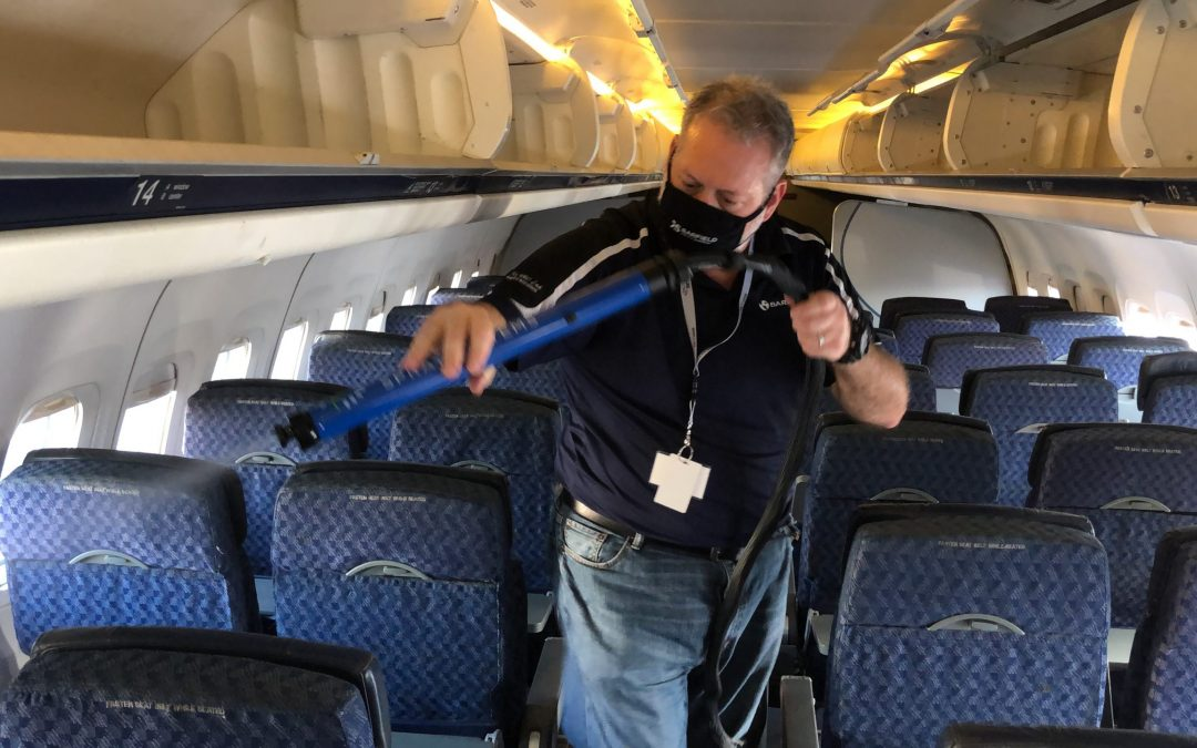 Electrostatic Spraying in Aircraft Operations